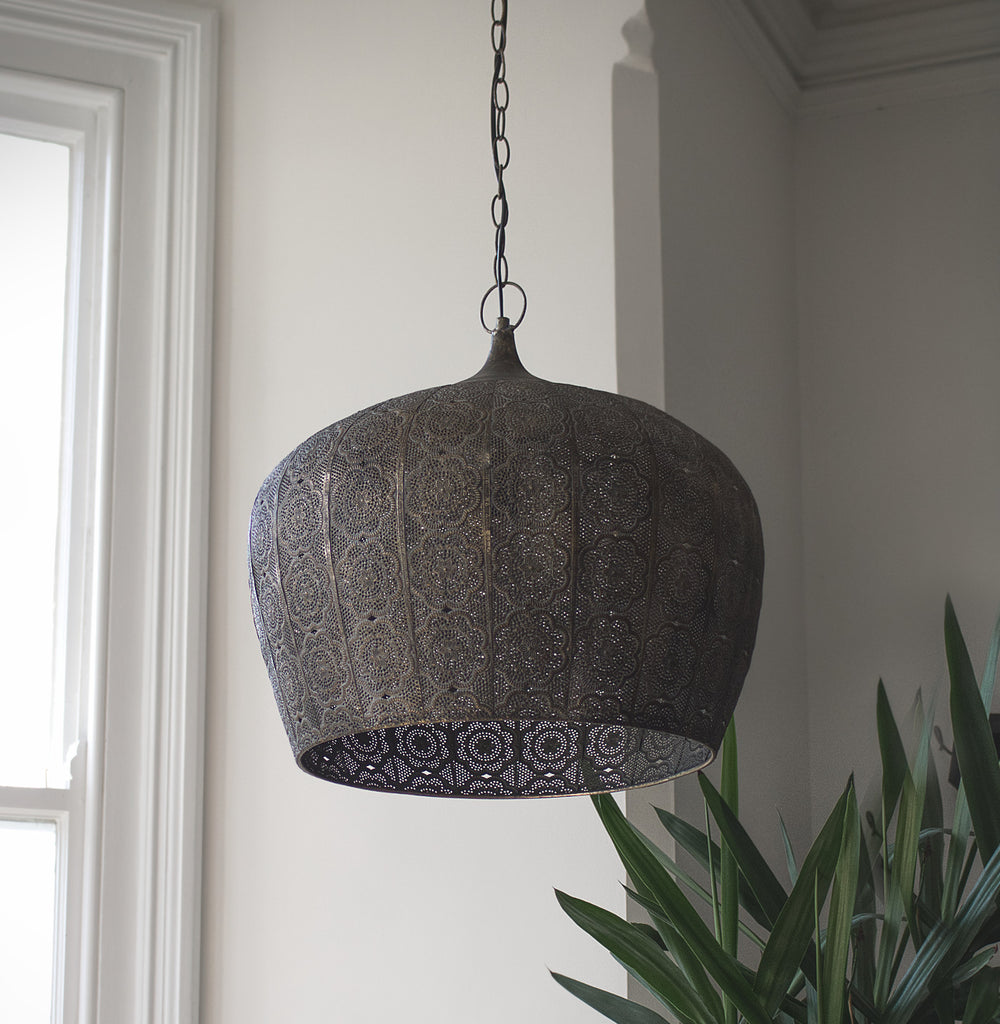 Large Rustic Pendant Light