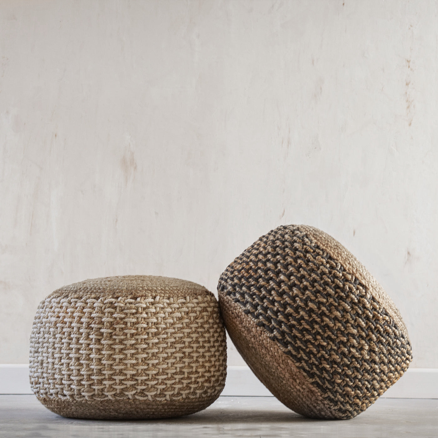 Moroccan living room accessories - pouffes and ottomans