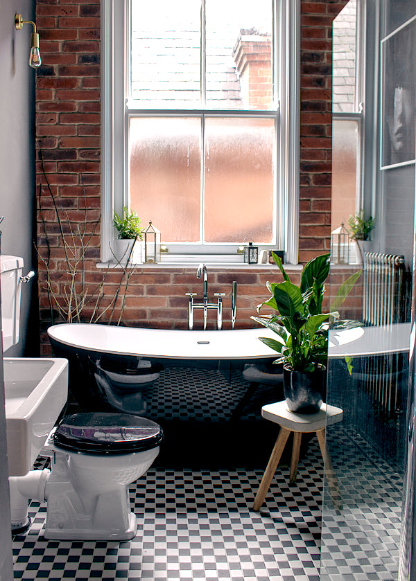 Warehouse style bathroom