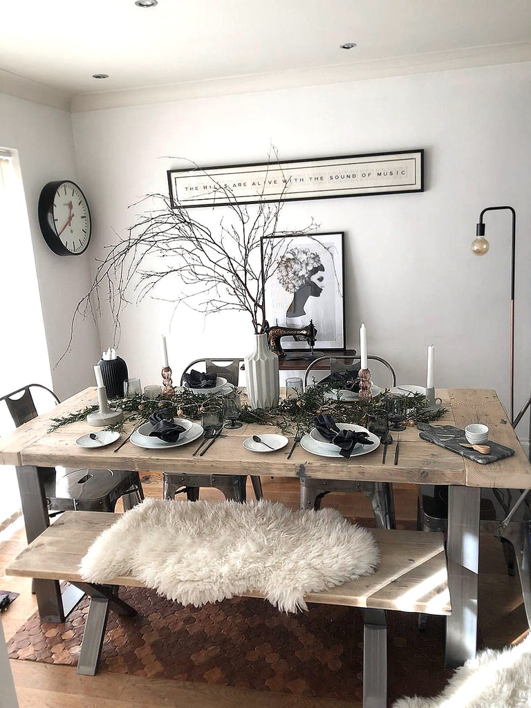 Scandi Industrial dining table