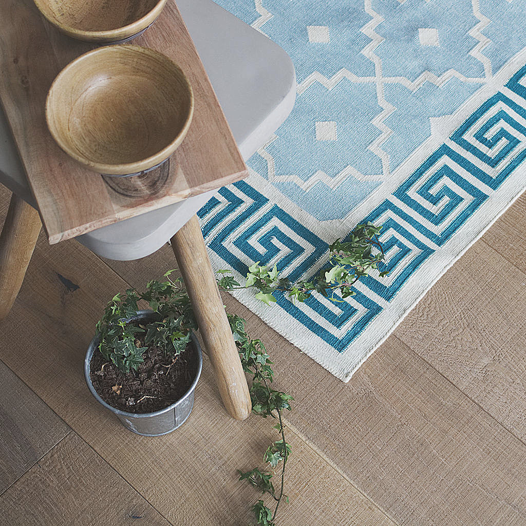 Moroccan rug, getting the industrial look just right