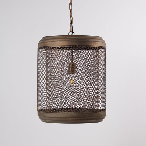Antique Copper Mesh Hanging Lamp