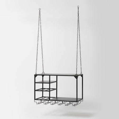 Black hanging shelf