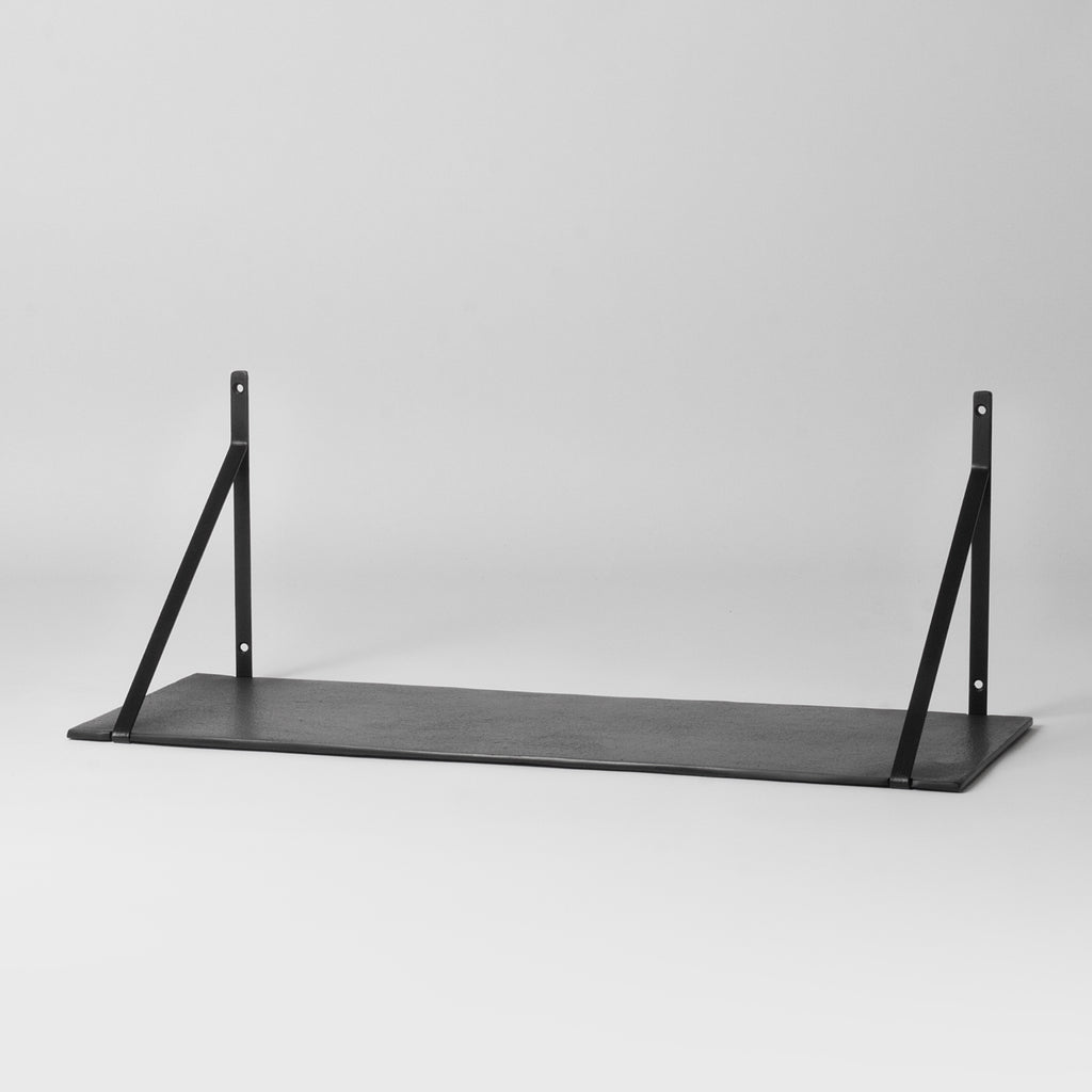 black hanging wall shelf