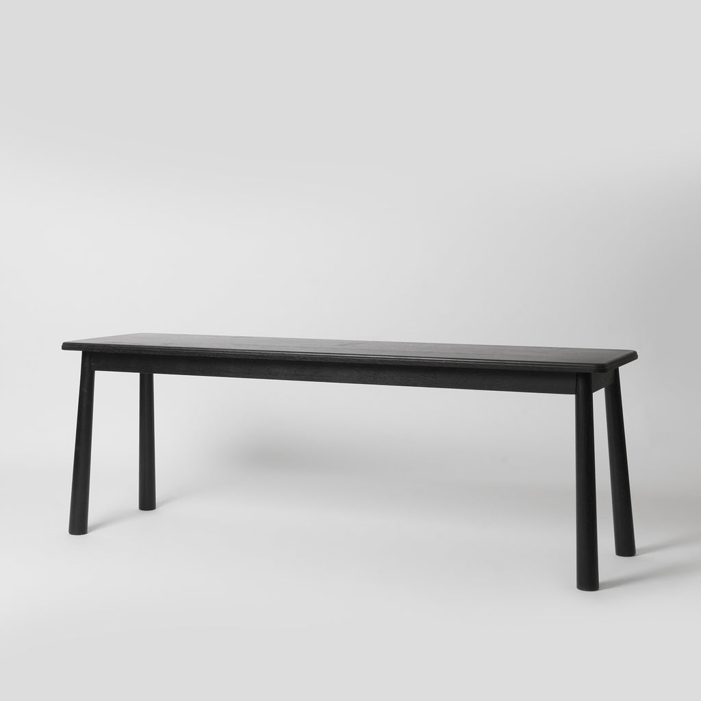 black nordic dining bench