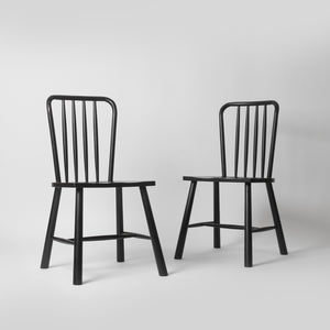 minimal black kitchen chair