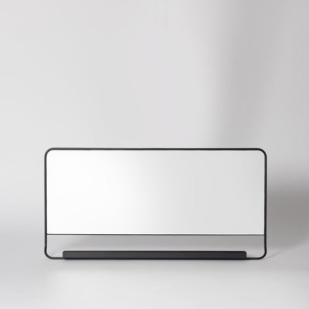 Black wide mirror shelf