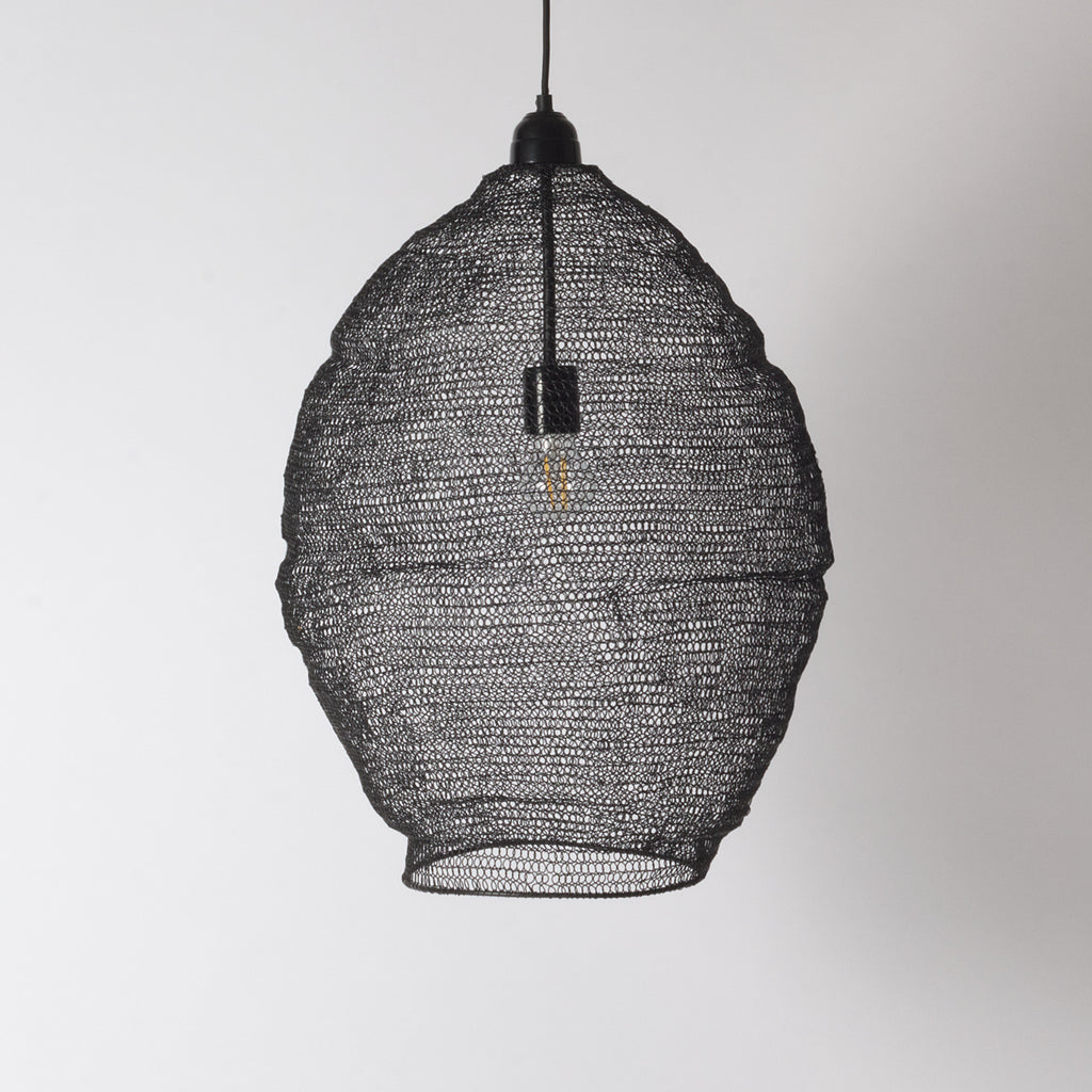 Black Mesh Pendant Light Large