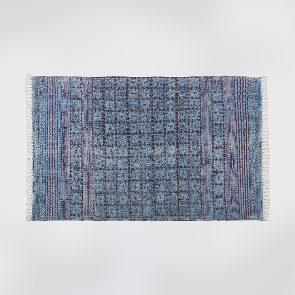 Hari Blue Distressed Rug