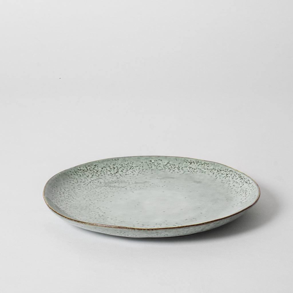 Blue Speckled Dinner Plate
