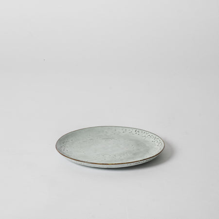 Blue speckled side plate