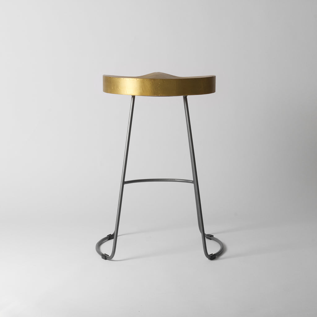 Brass Counter Stool 65cm