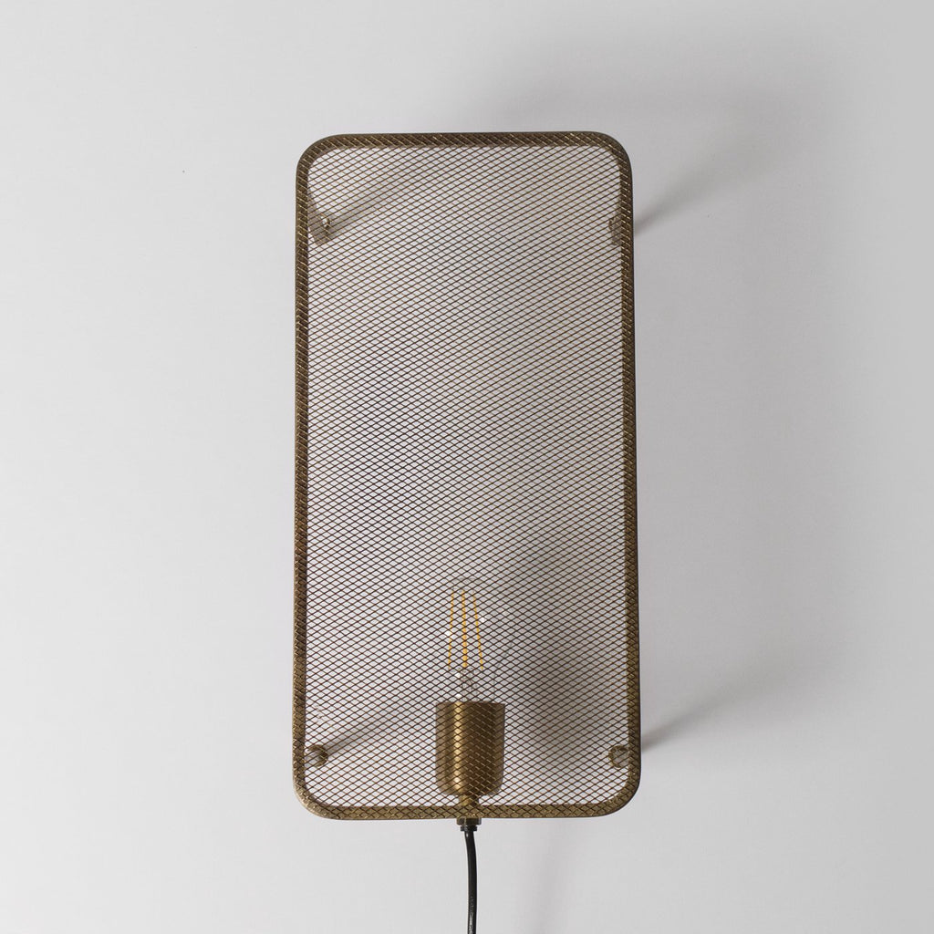 Bronze mesh wall light