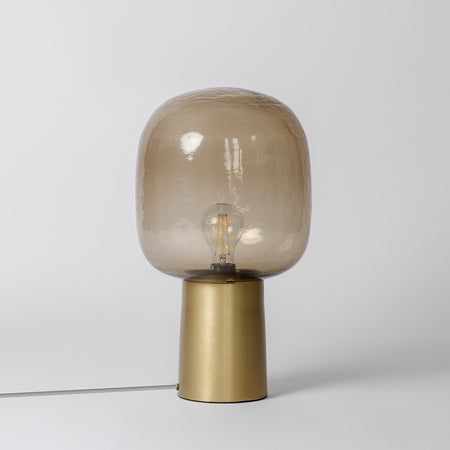 Brown Glass Table Lamp
