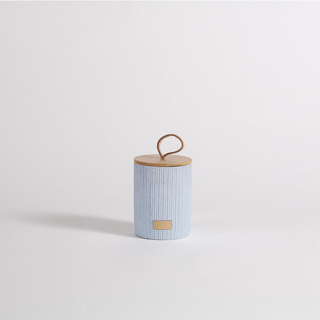 Lint Light Blue Storage Jar