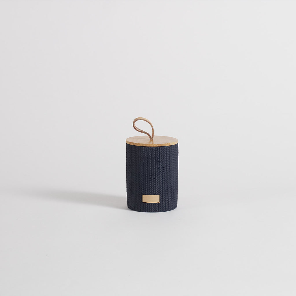 Lint Navy Blue Storage Jar