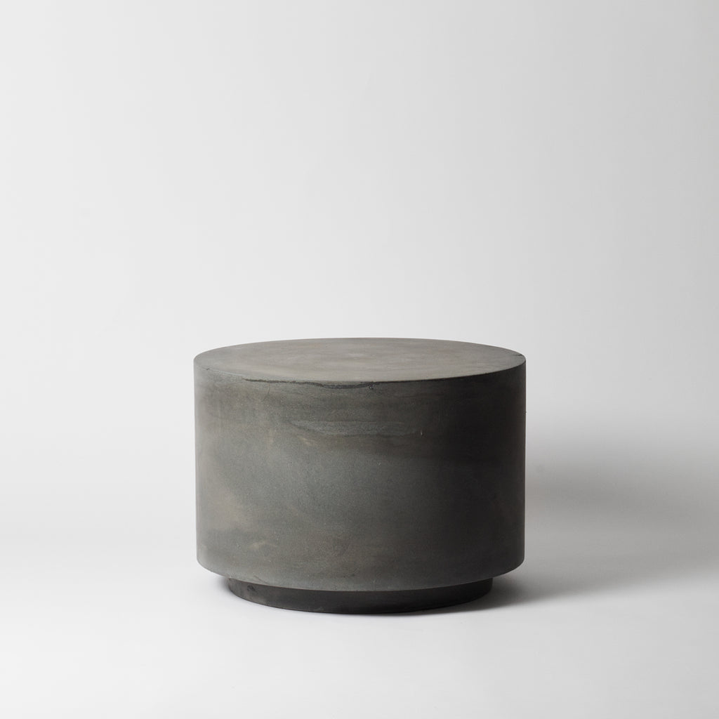 Round concrete coffee table