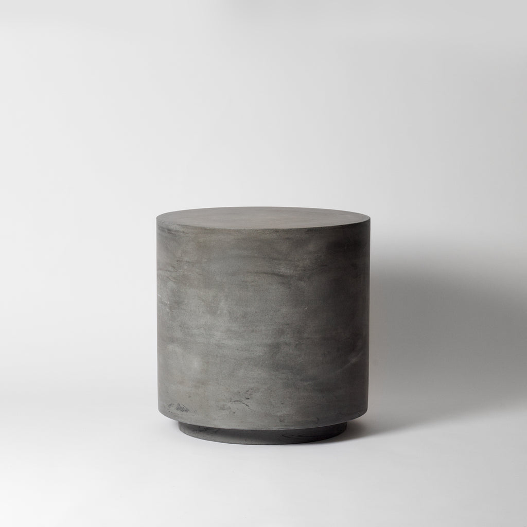 Round concrete side table