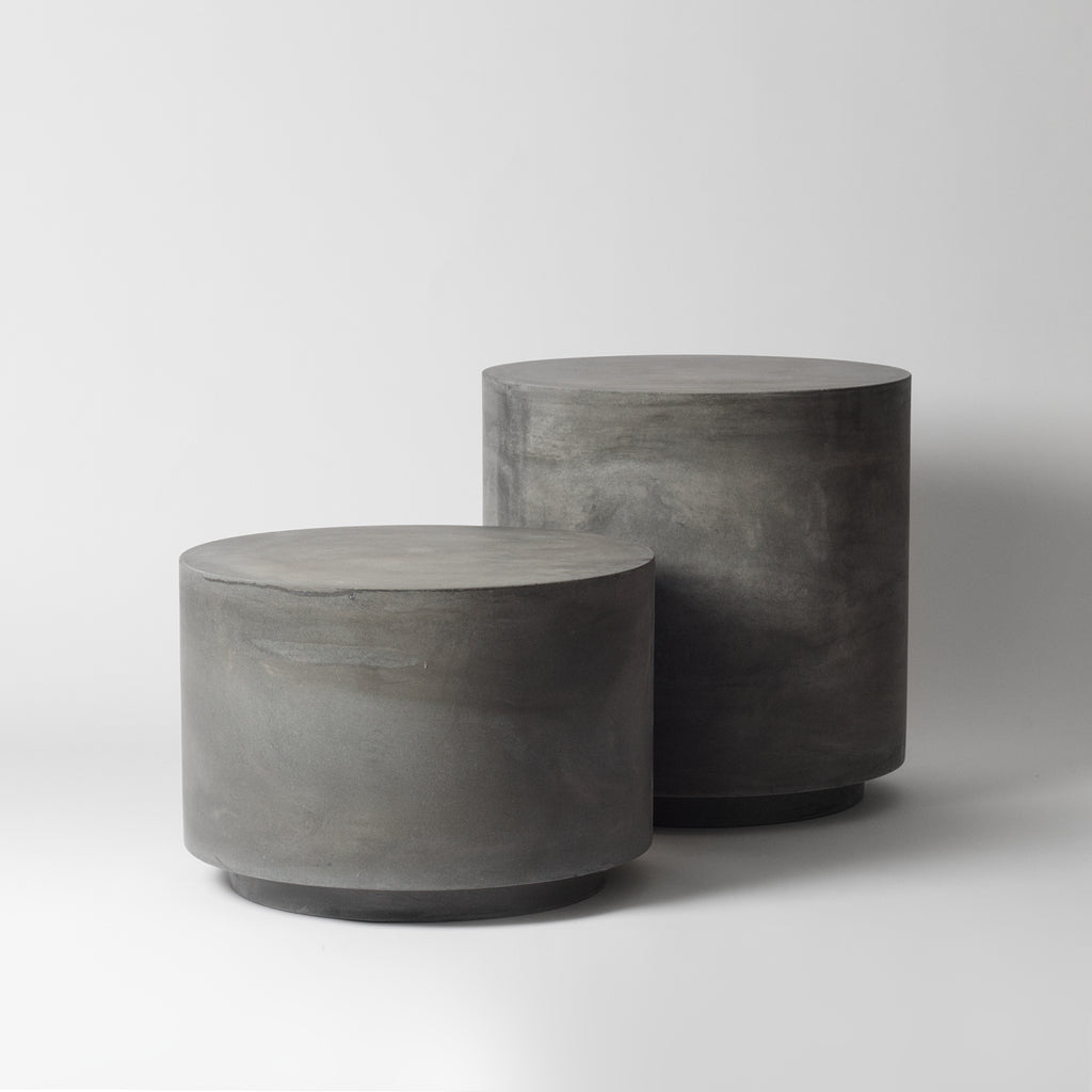 Hodi Round Concrete Side Table Vaunt Design