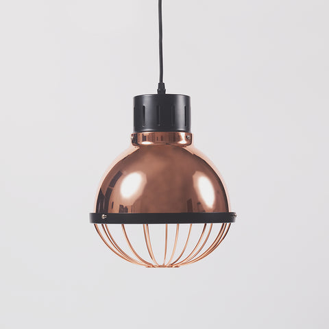 Copper Ceiling Light With Black Top