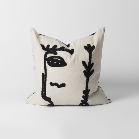 Cream Face Cushion