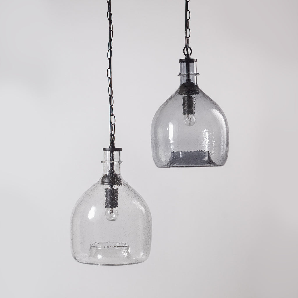 Mala Glass Bell Jar Light Clear Vaunt Design