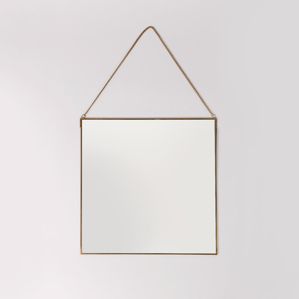 Noida Gold Hanging Mirror