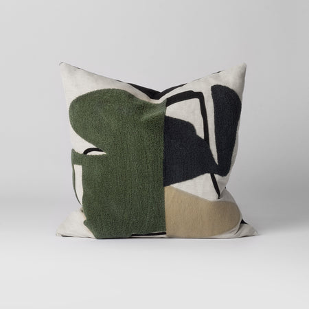 green abstract cushion
