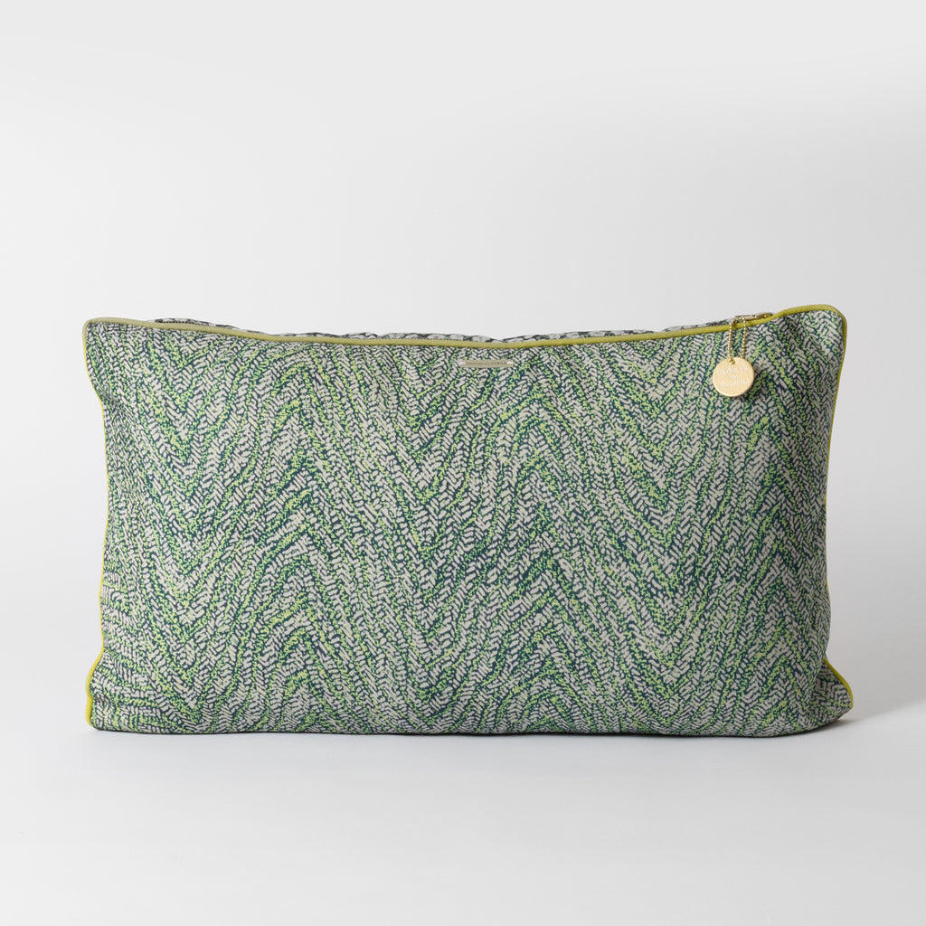 Green Patterned Cushion