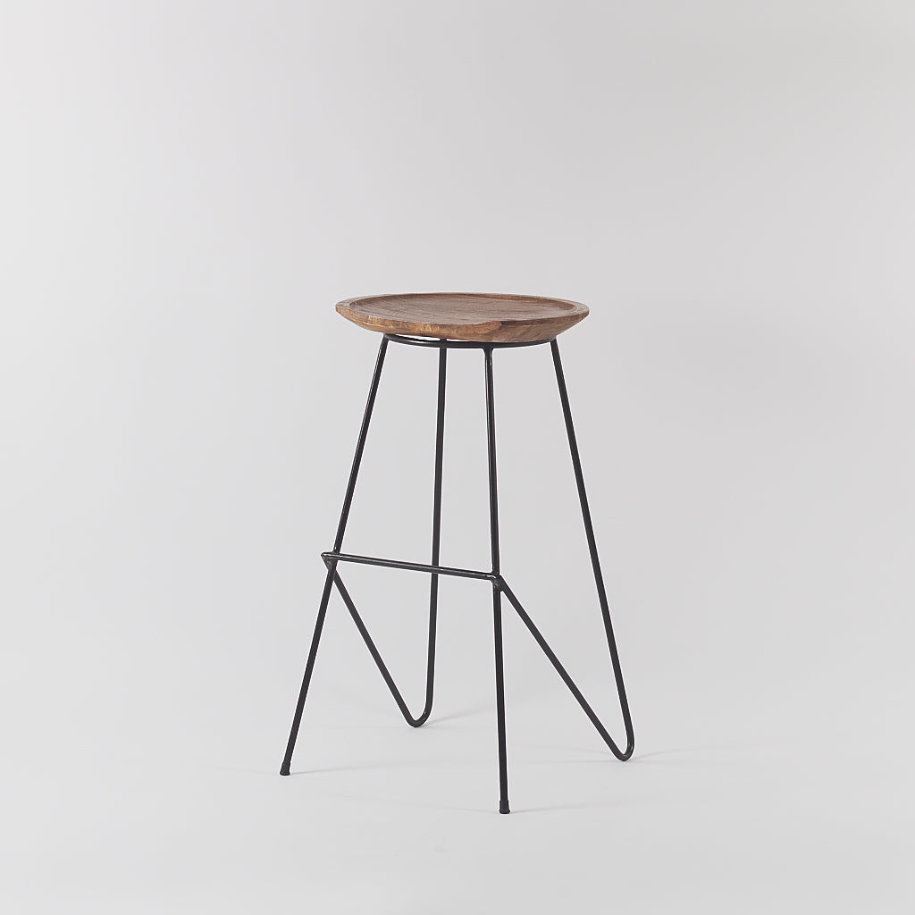 Stoker Wood and Metal Bar Stool