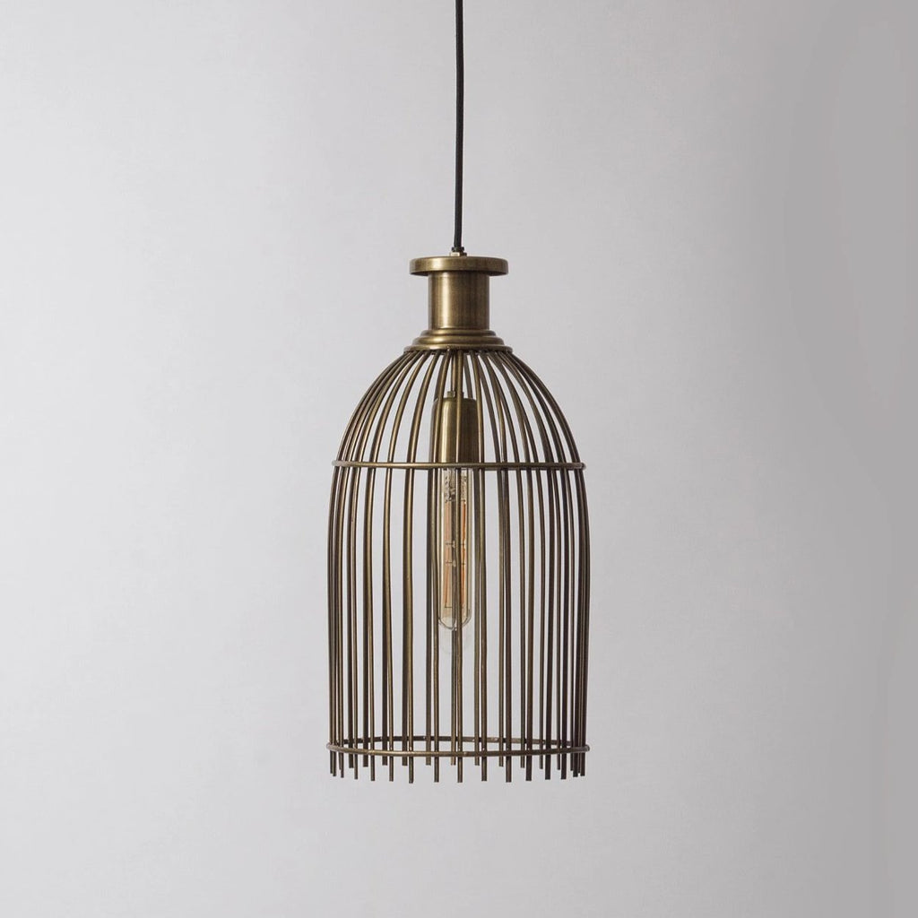 Vintage Cage Pendant Light