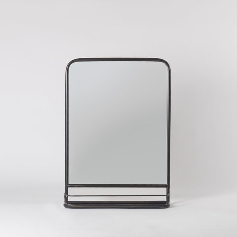 black mirror with shelf