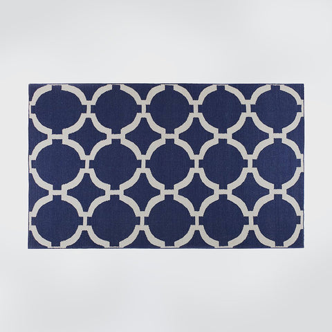 Birla Ink Blue Geometric Rug