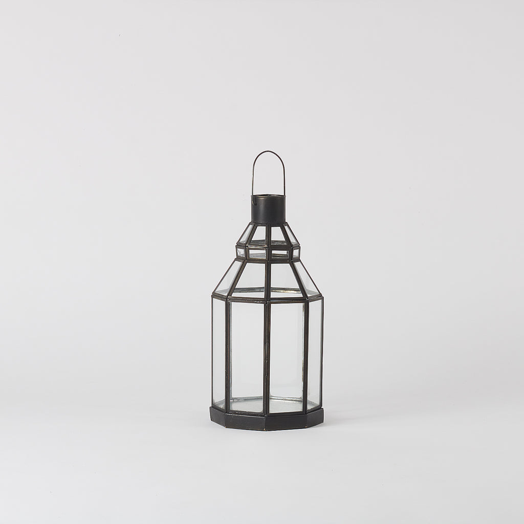 Anjuna Iron lantern Octagonal, Medium