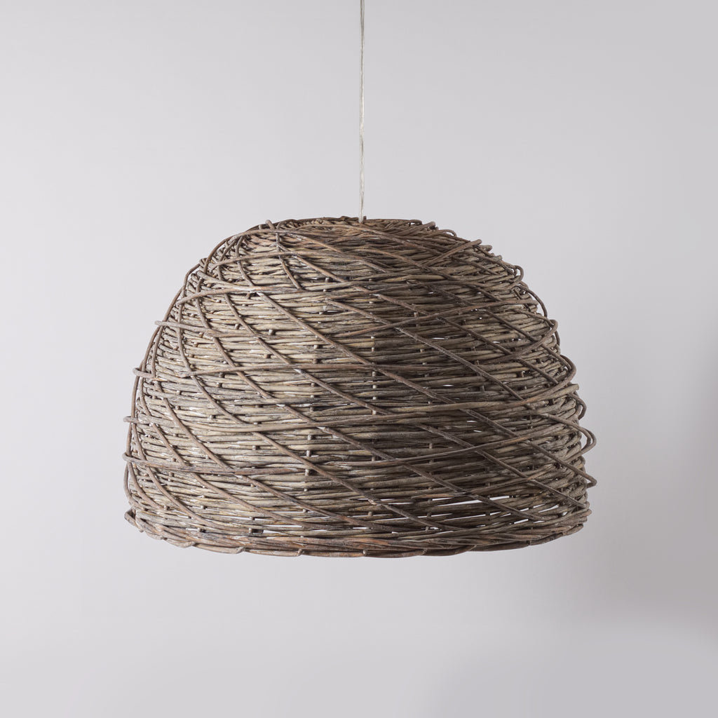 Large Wicker Pendant Light Shade