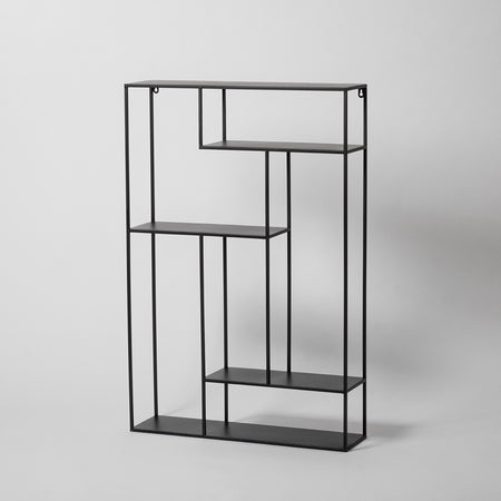 Large Black Wall Shelf
