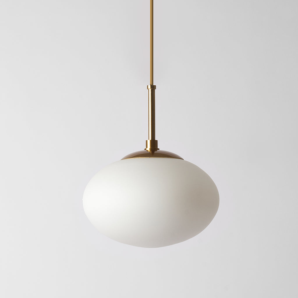 Large frosted glass pendant light