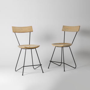 Pale Wood Dining Chair
