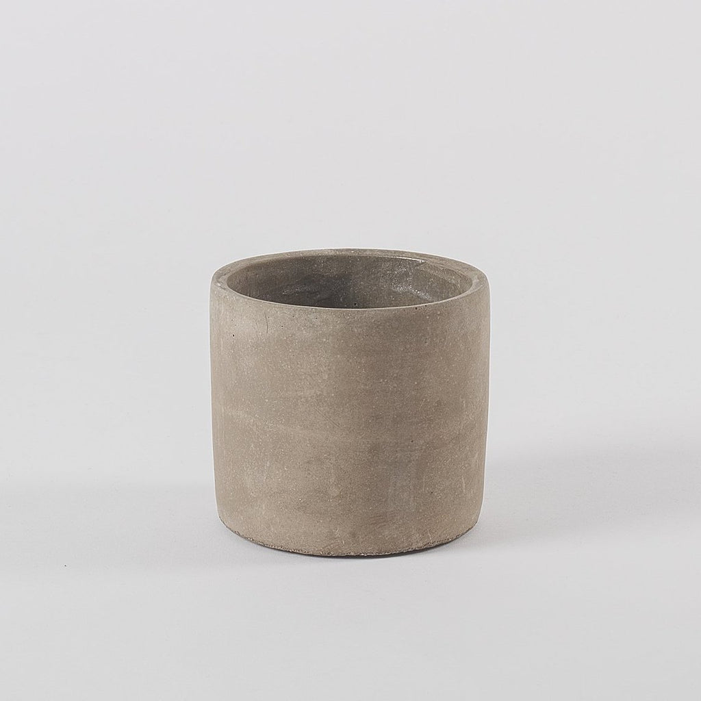 Ecru Concrete Planter, Medium