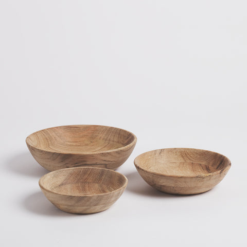 Karve Wooden Meze Bowls, Set of 3