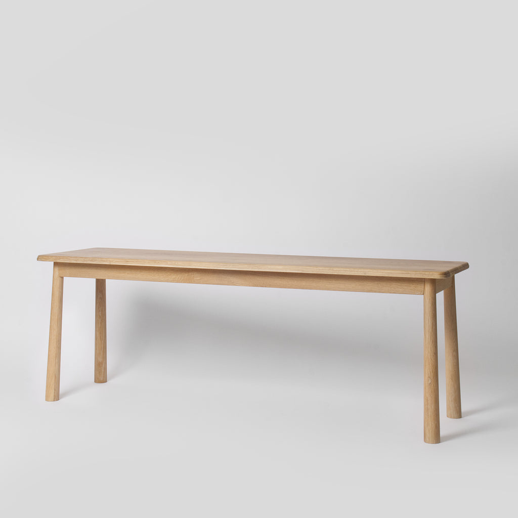 scandi wooden dining bench