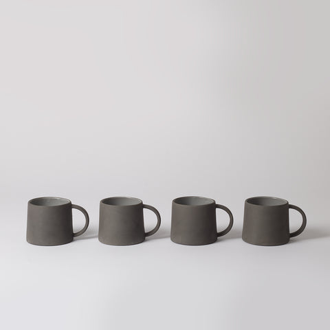 Minimalist Coffee Mugs, Dark Grey