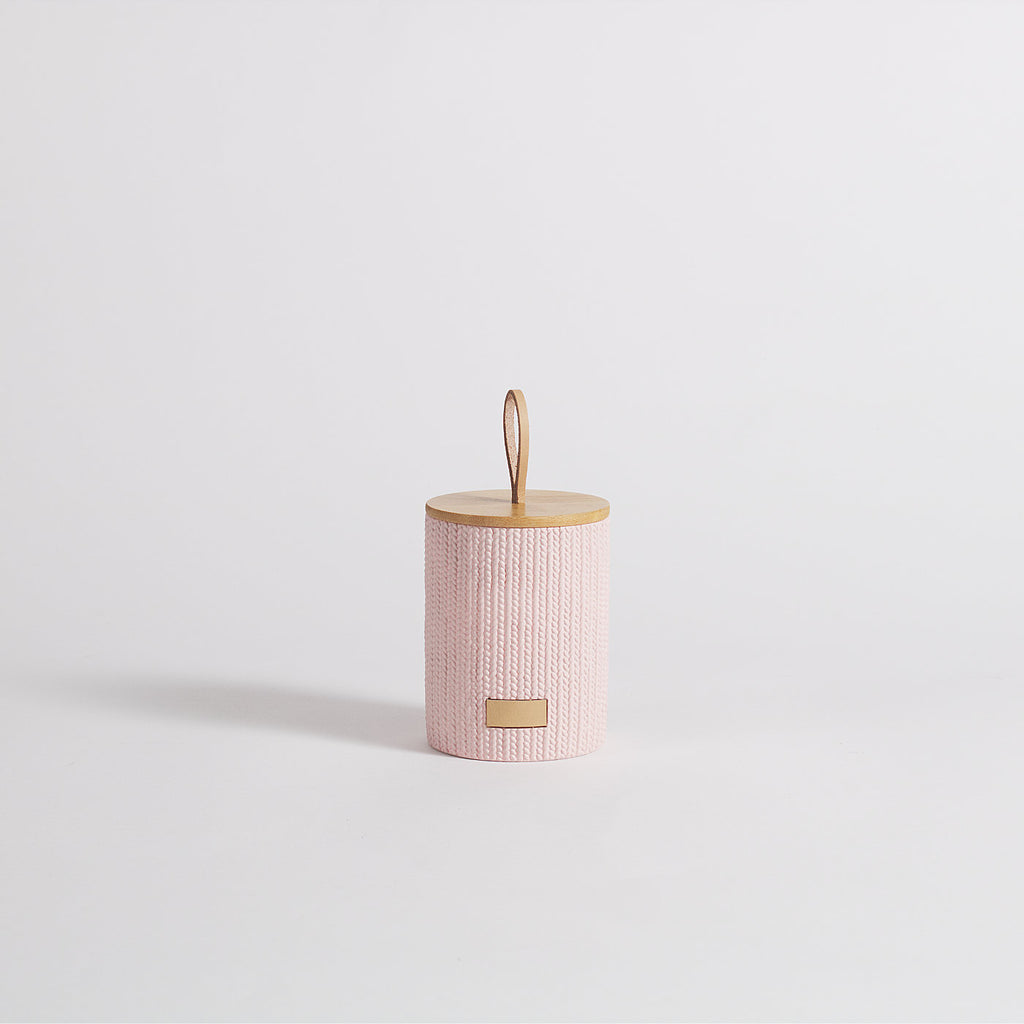 Lint Pink Storage Jar