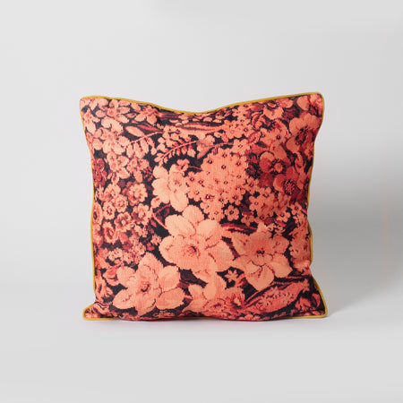 Pink patterned cushion