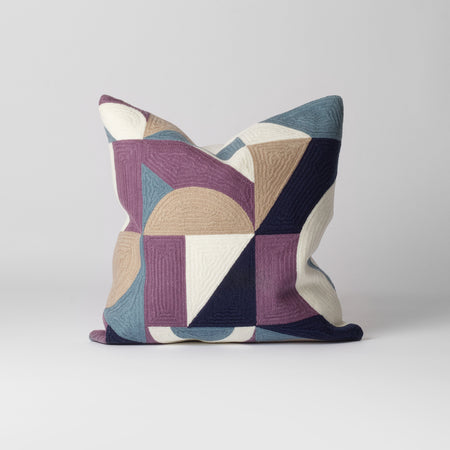 Purple geometric cushion