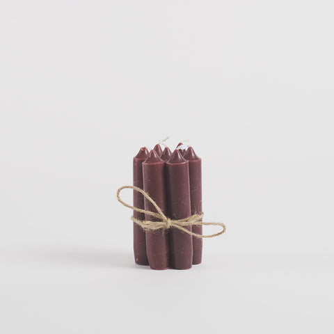 Dinner Candles, Pack of 7, Dusty Purple