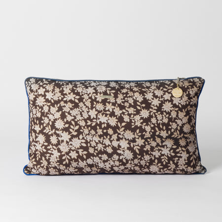Brown patterned cushion