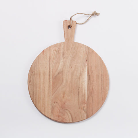 Kaolin Rustic Pizza Board, Acacia