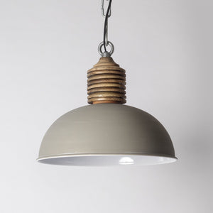 Grey rustic pendant light