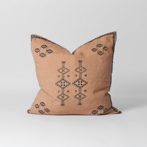 Salmon pink scatter cushion